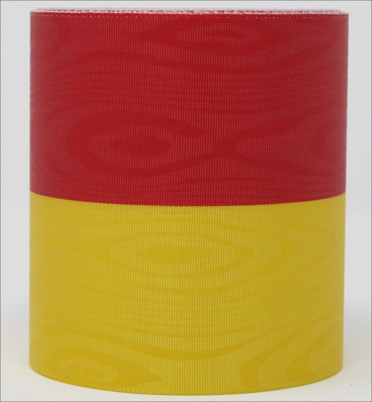"Bandfarben ""gelb-rot"""